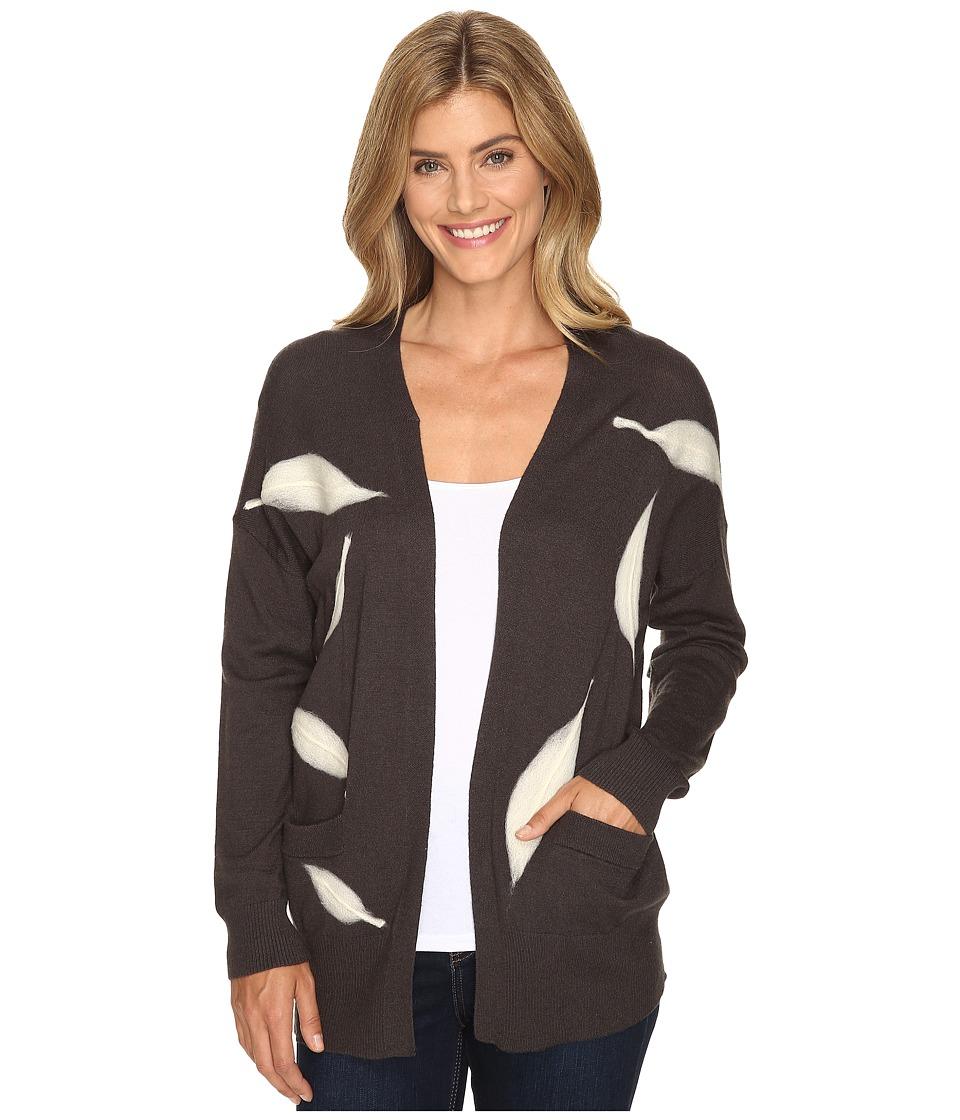 B Collection by Bobeau - Lia Intarsia Cardi (Charcoal Grey) Women's Sweater