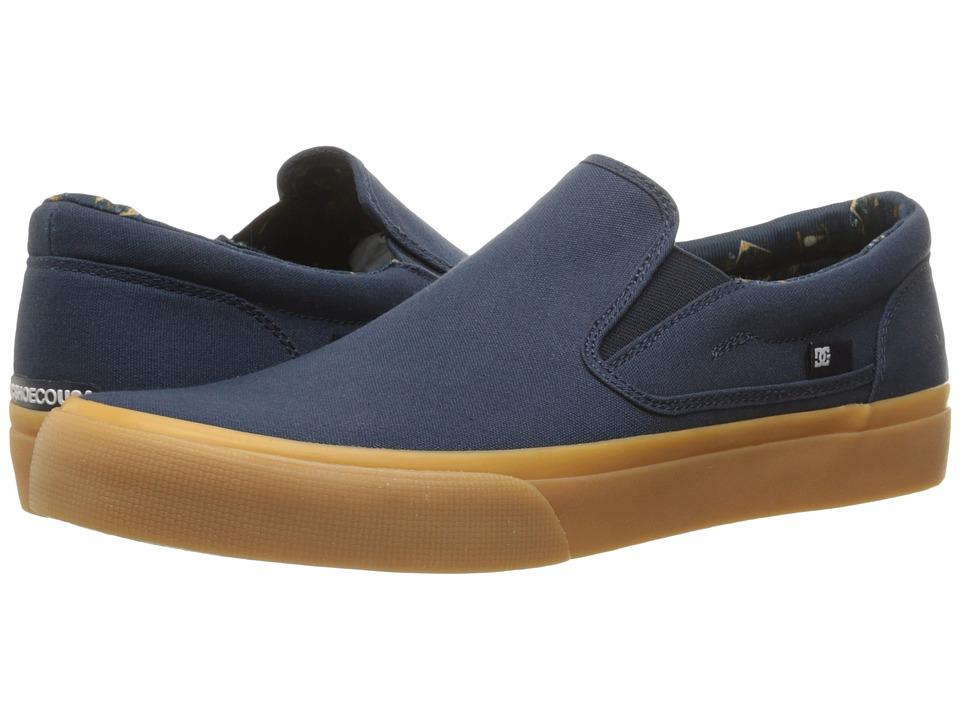 DC - Trase Slip-On TX SE (Navy/Gum) Men's Shoes