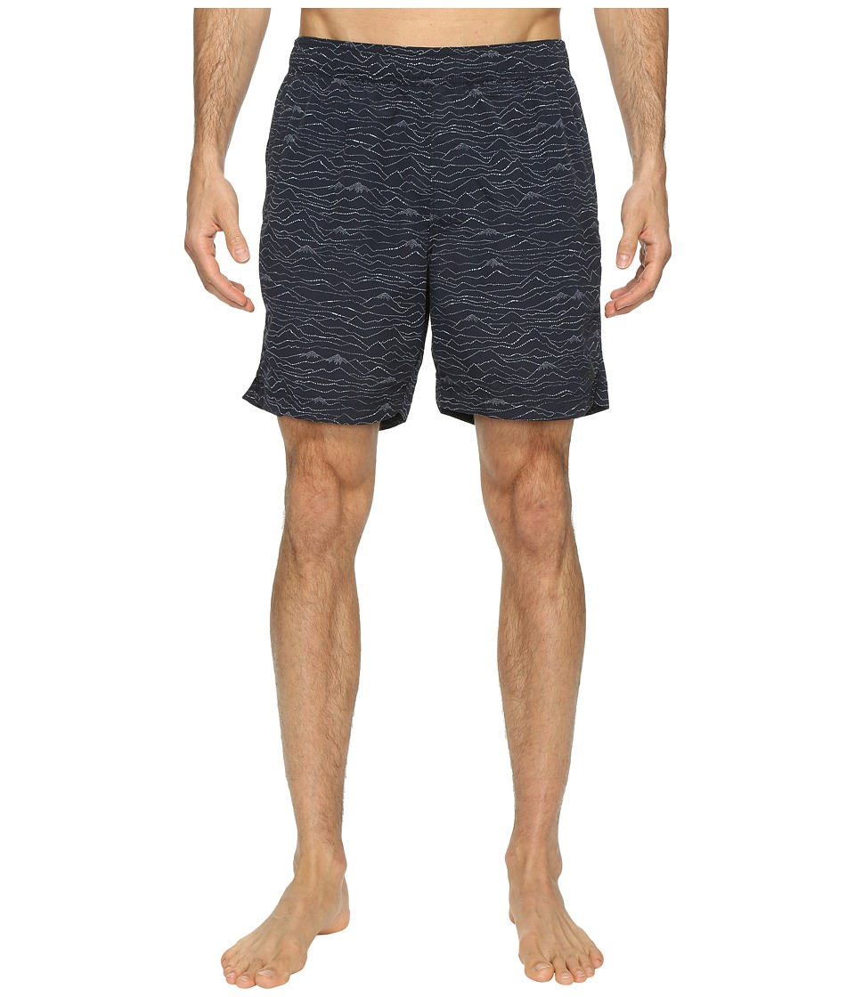 The North Face Class V Pull-On Trunk (Urban Navy Mountain Scape Print (Prior Season)) Men