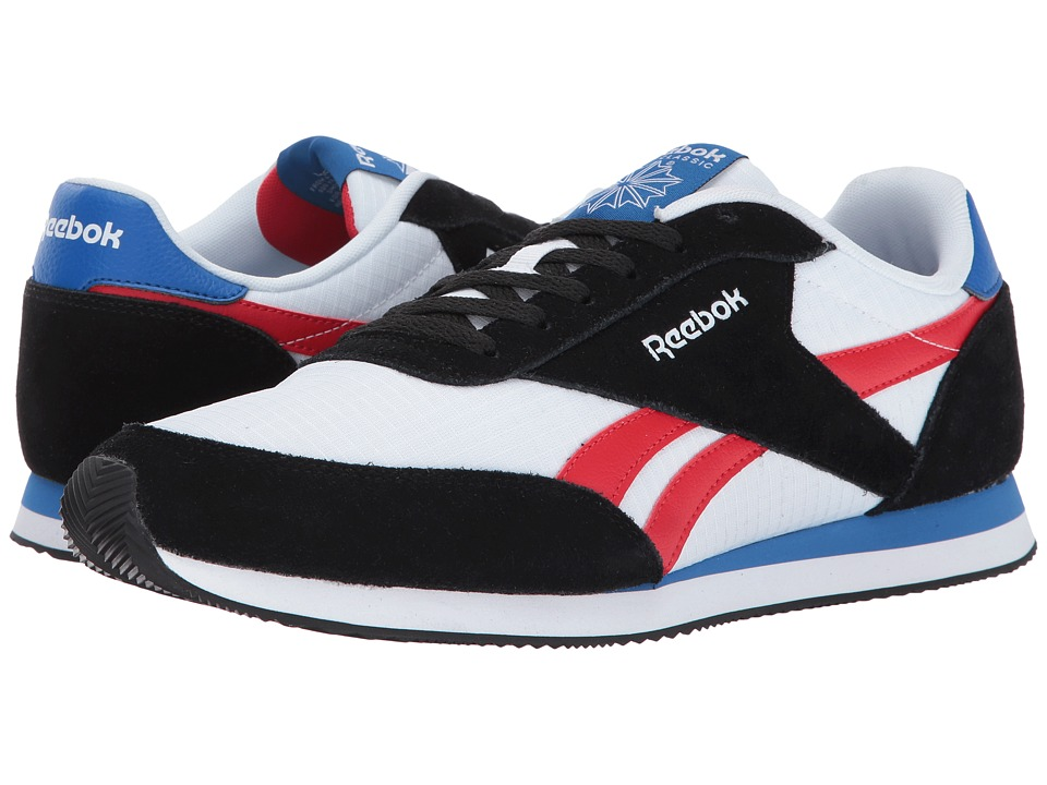Reebok - Royal CL Jogger 2 (Black/White/Primal Red/Awesome Blue) Men's Shoes