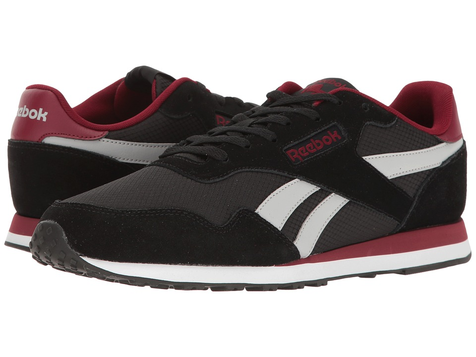 Reebok Royal Ultra (Black/Light Grey Heather Solid Grey/Collegiate Burgundy/White) Men