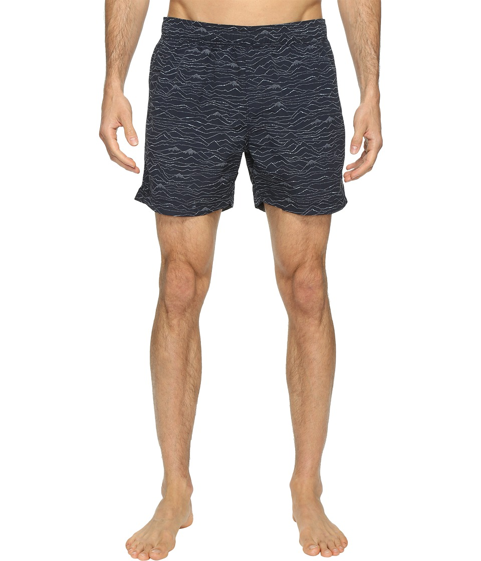 The North Face Class V Pull-On Trunk Short (Urban Navy Mountain Scape Print (Prior Season)) Men