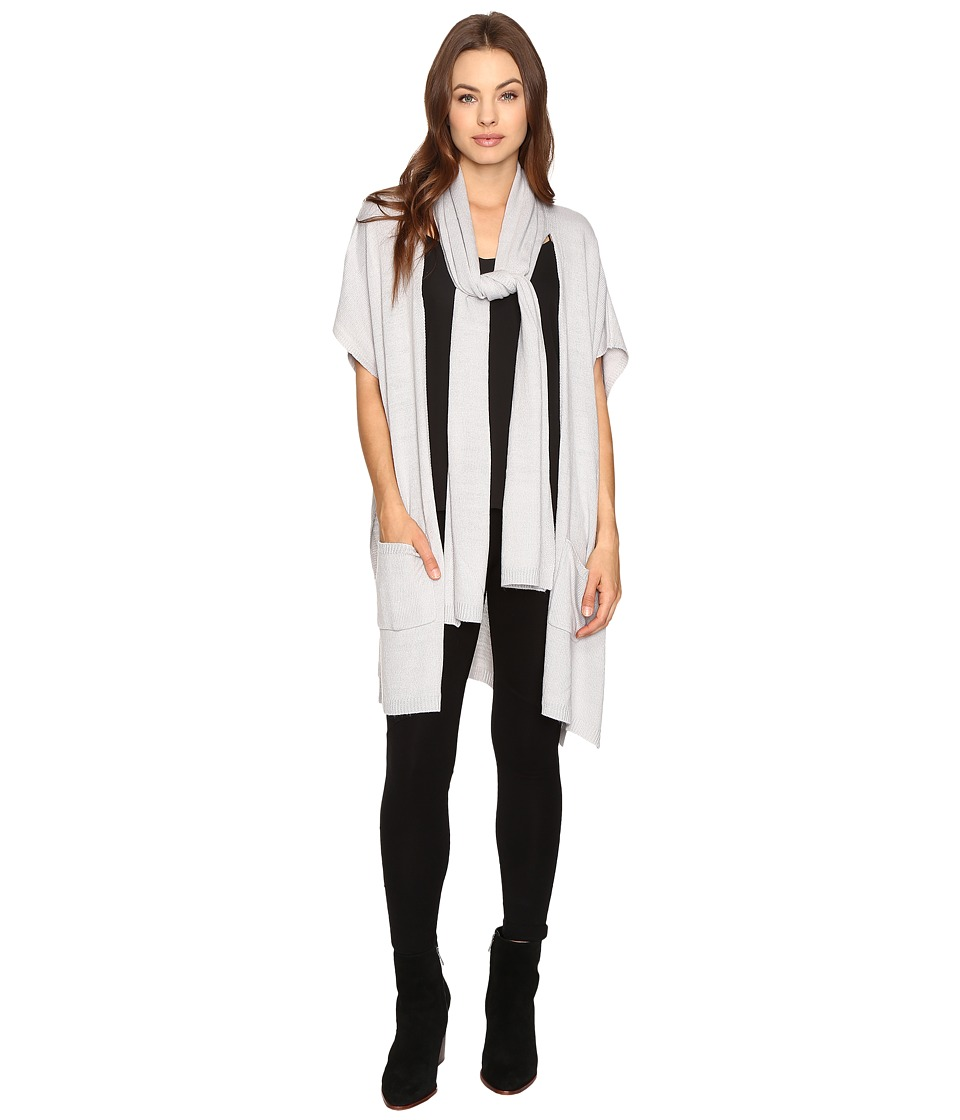 B Collection by Bobeau - Romy Scarf Cardi (Silver) Women's Sweater