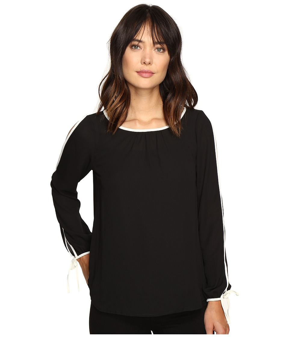 B Collection by Bobeau - Denver Cold Shoulder Top (Black) Women's Clothing