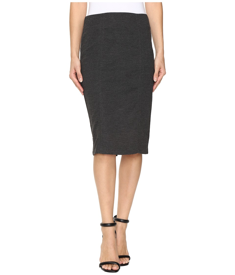 B Collection by Bobeau Lucy Midi Skirt (Charcoal Grey) Women