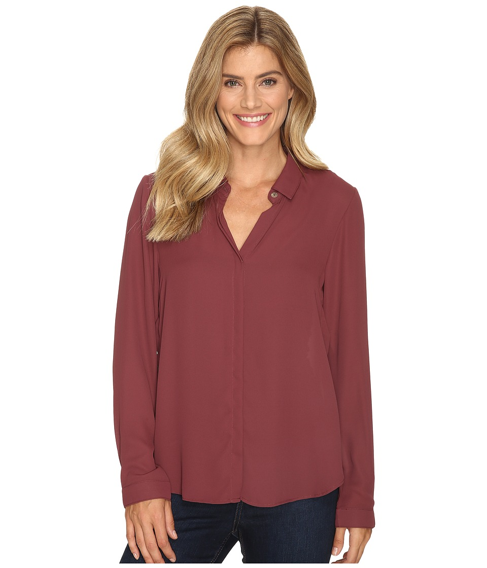 B Collection by Bobeau - Herriot Woven Blouse (Raisin) Women's Blouse