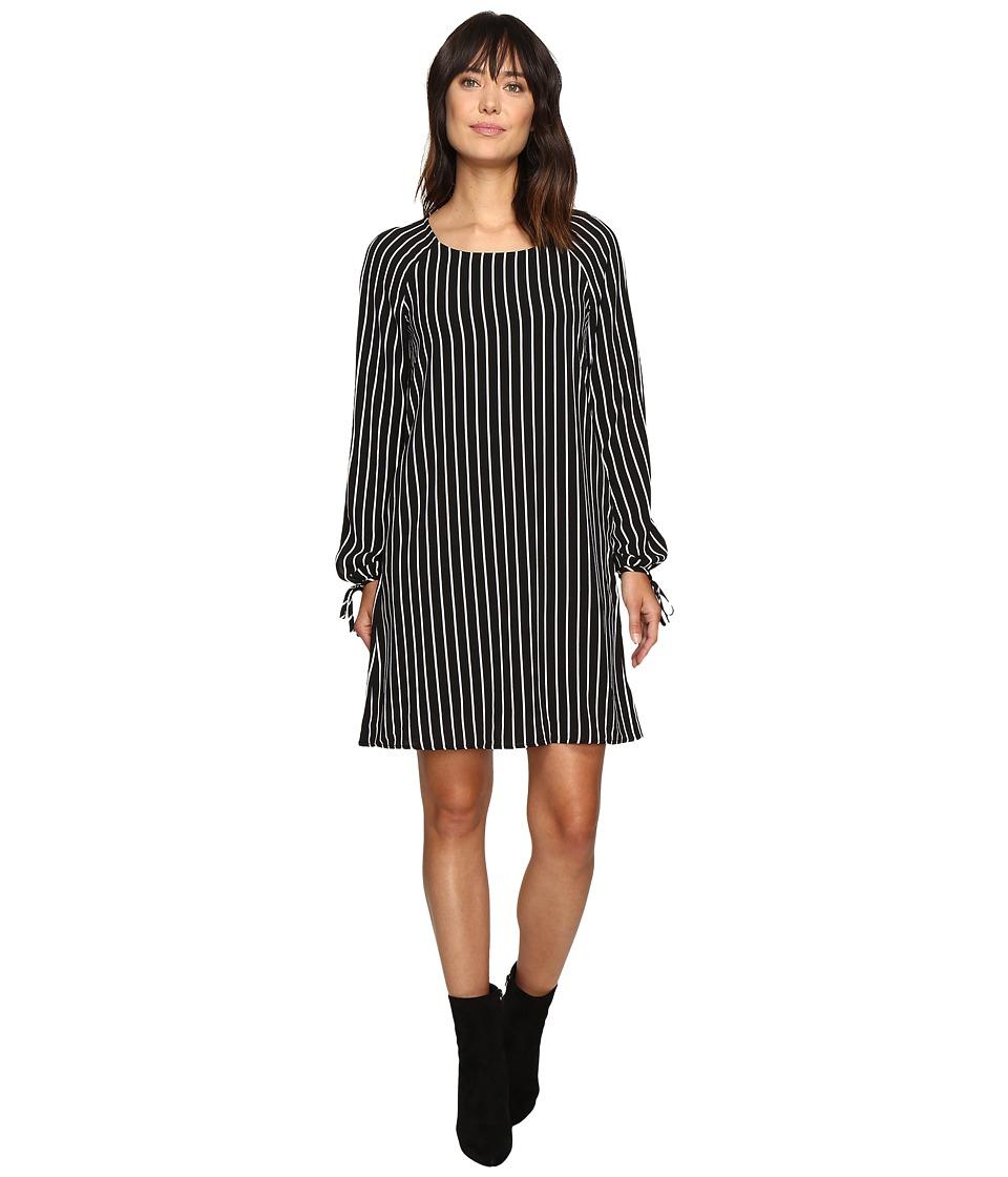 B Collection by Bobeau - Jenah Tie Sleeve Blouse (Stripe) Women's Blouse