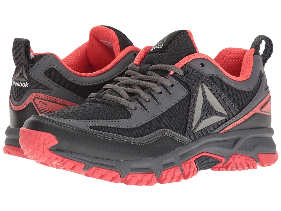 Reebok - Ridgerider Trail 2.0 (Lead/Fire Coral/Ash Grey/Pewter) Women's Running Shoes