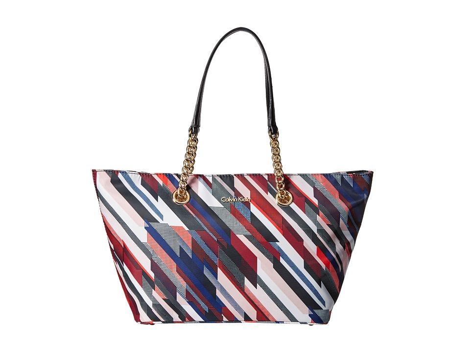 Calvin Klein - Florence Dressy Nylon Tote (Multi Stripe) Tote Handbags