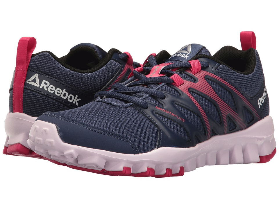 Reebok - RealFlex Train 4.0 (Blue Ink/Pink Craze/Black/Lucid Lilac/Silver) Women's Cross Training Shoes