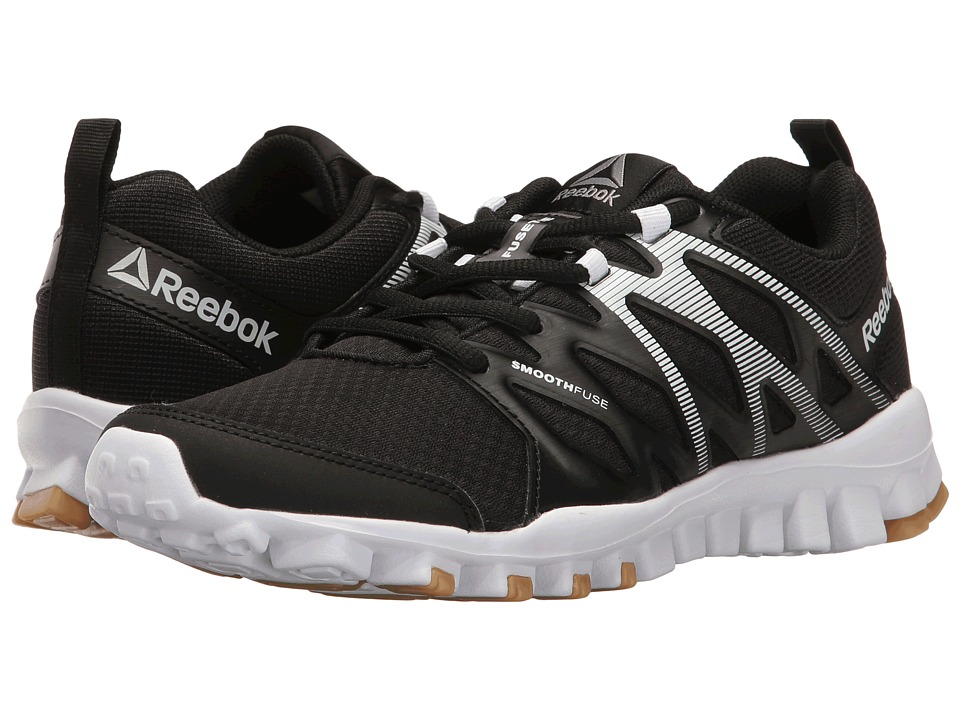 Reebok - RealFlex Train 4.0 (Black/White/Reebok Rubber Gum/Silver Metallic) Women's Cross Training Shoes