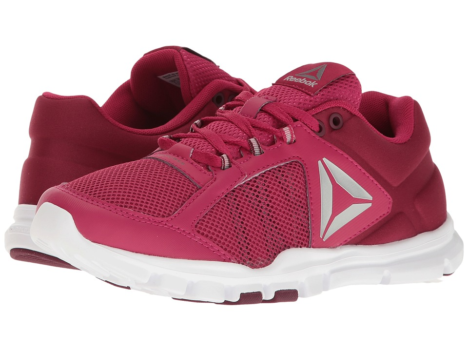 Reebok - Yourflex Trainette 9.0 MT (Manic Cherry/Rustic Wine/White/Metallic Silver/Grey) Women's Cross Training Shoes