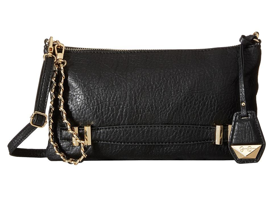 Jessica Simpson - Hanne Crossbody Clutch (Black/Putty) Clutch Handbags