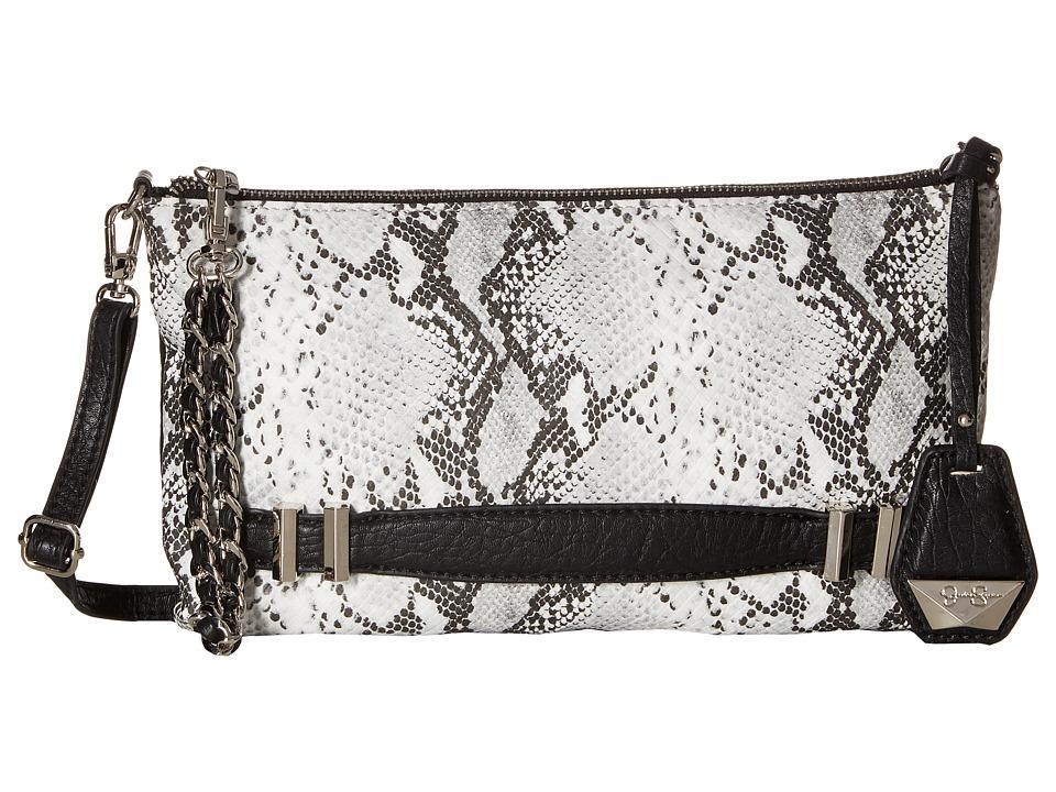 Jessica Simpson - Hanne Crossbody Clutch (Black/White Python) Clutch Handbags