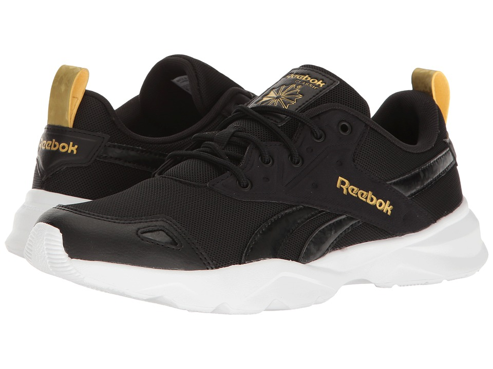 Reebok - Royal Blaze GN (Black/White/Gold Metallic) Women's Classic Shoes