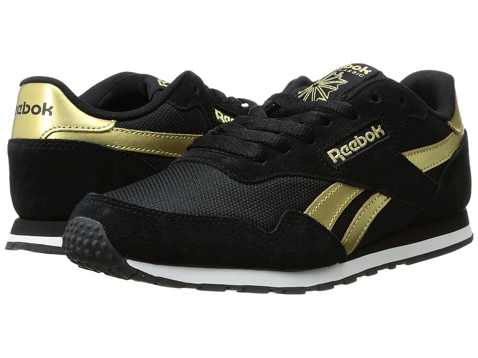 Reebok - Royal Ultra SL (Black/Gold Metallic/White) Women's Classic Shoes