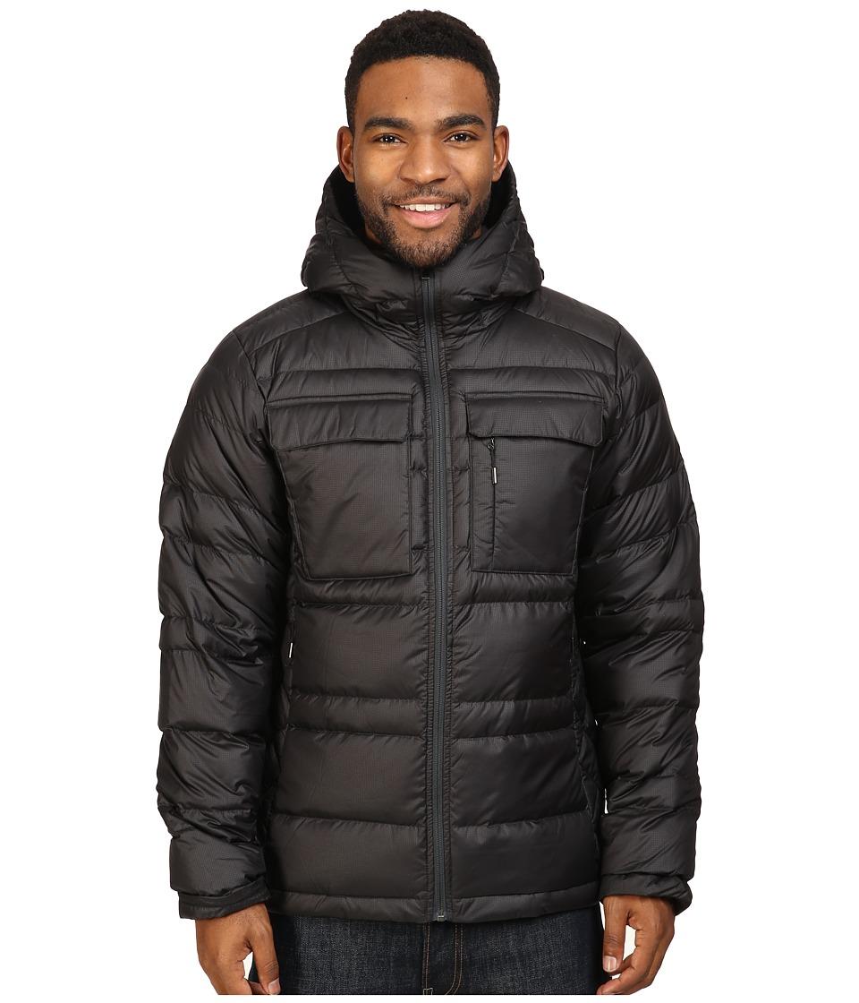 NAU - Drop Down Hoodie Jacket (Caviar) Men's Coat