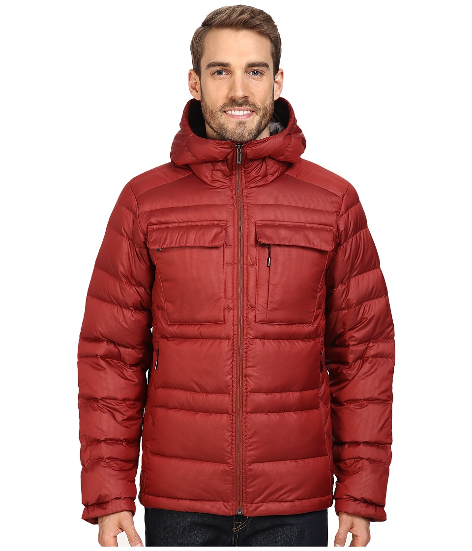 NAU - Drop Down Hoodie Jacket (Pomegranate) Men's Coat