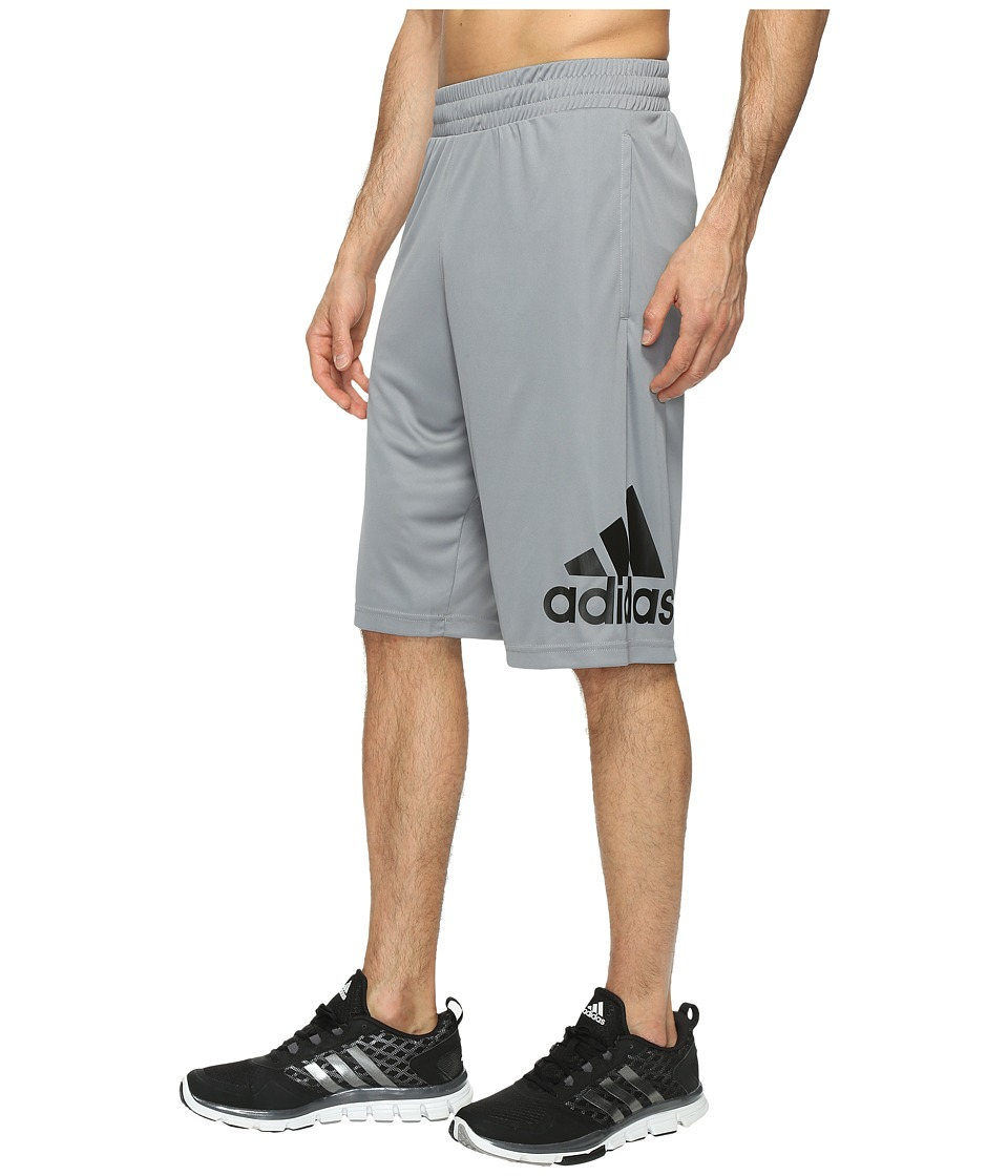 adidas - Crazylight Shorts (Grey/Black) Men's Shorts