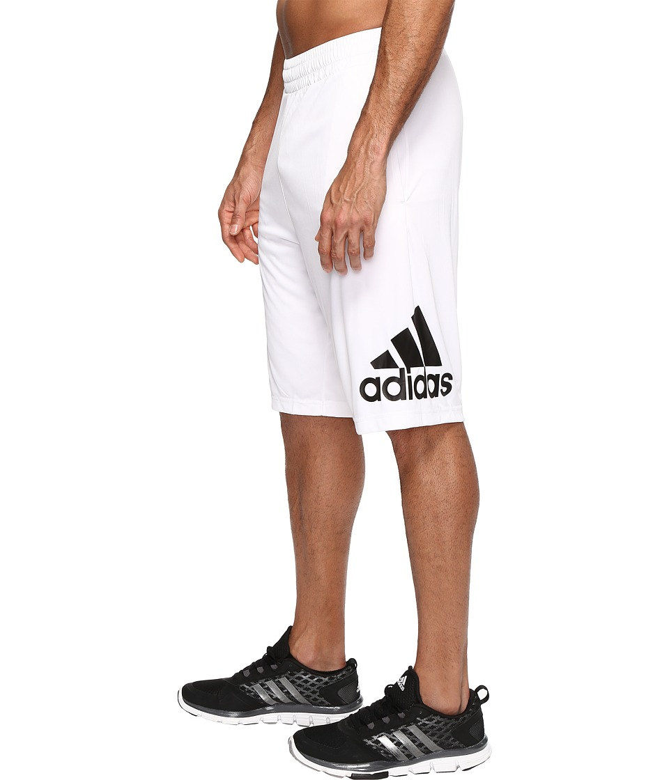 adidas - Crazylight Shorts (White/Black) Men's Shorts