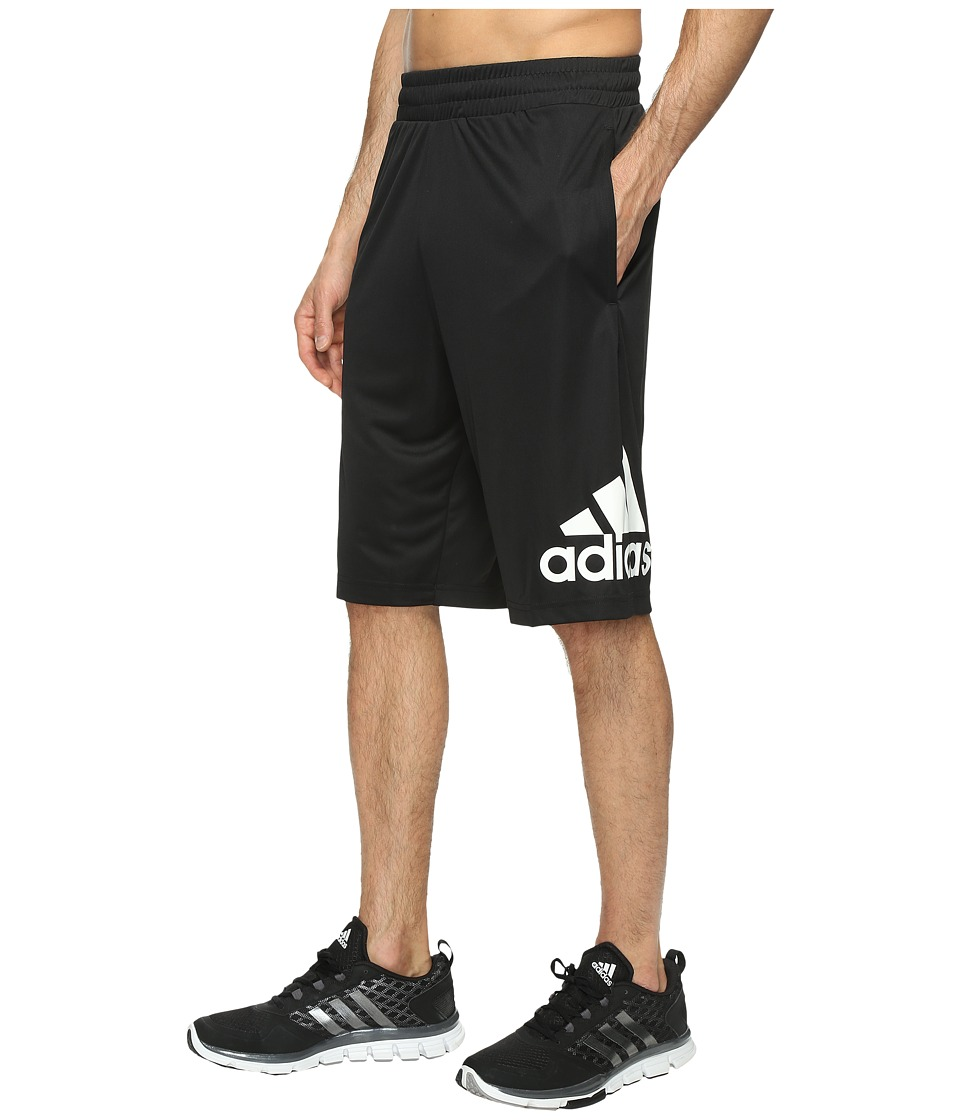 adidas - Crazylight Shorts (Black/White) Men's Shorts