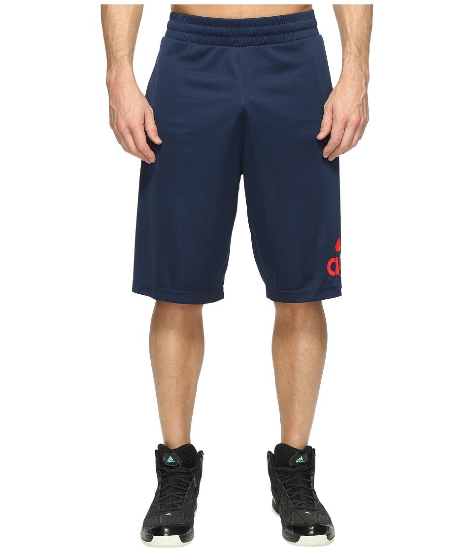 adidas - Crazylight Shorts (Collegiate Navy/Scarlet) Men's Shorts