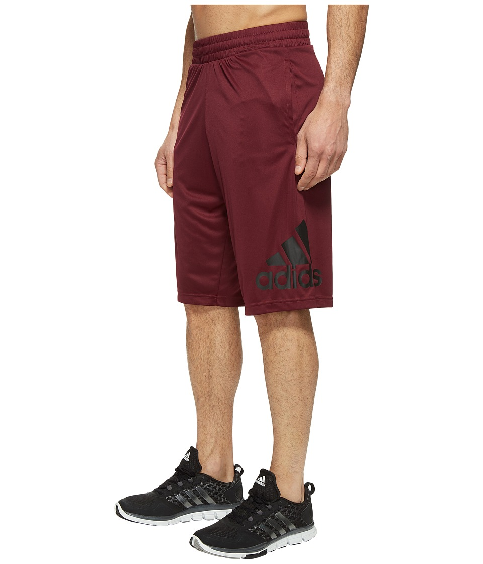 adidas - Crazylight Shorts (Maroon/Black) Men's Shorts