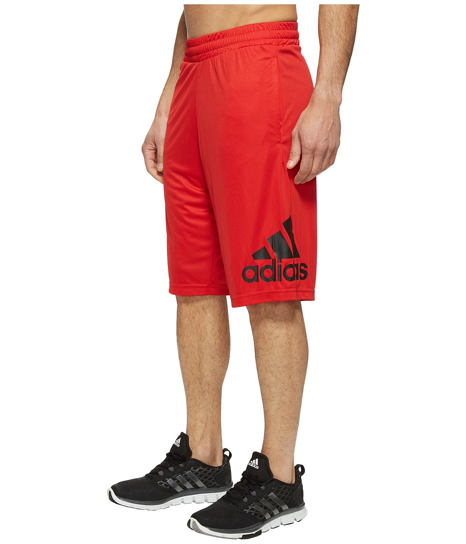 adidas - Crazylight Shorts (Scarlet/Black) Men's Shorts