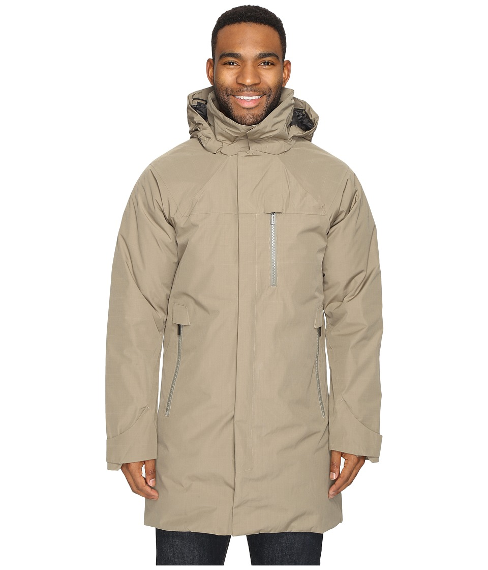 NAU - Copenhagen Down Trench Coat (Dark Khaki) Men's Coat