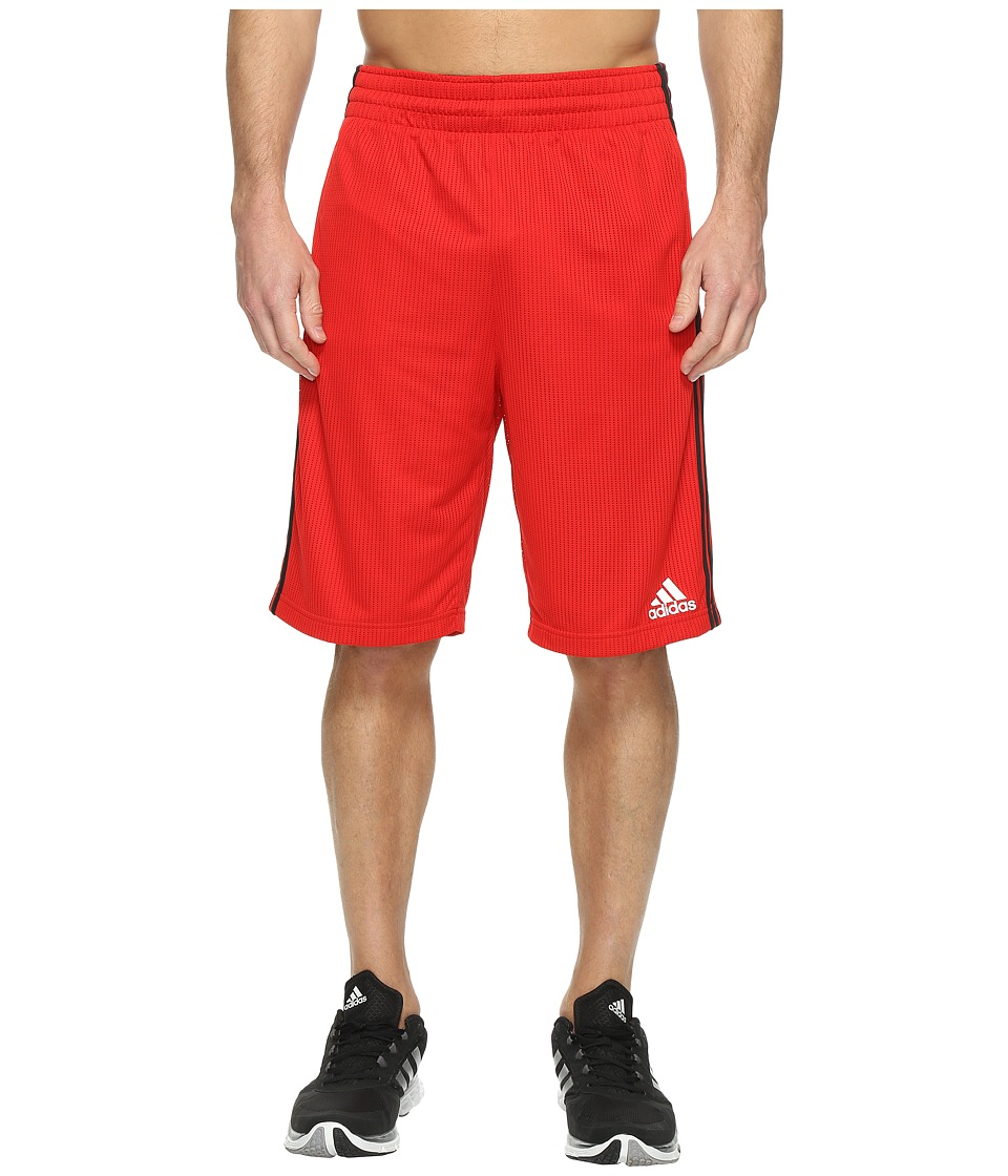 adidas - Triple Up Shorts (Scarlet/Black) Men's Shorts