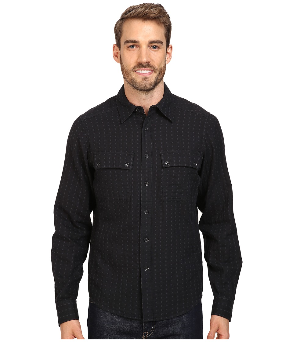 NAU - Shadow Box Long Sleeve Shirt (Caviar Plaid) Men's Long Sleeve Button Up