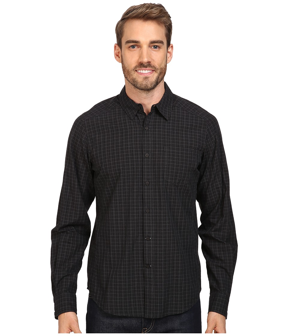 NAU - Parallelogram Long Sleeve Shirt (Caviar Plaid) Men's Long Sleeve Button Up
