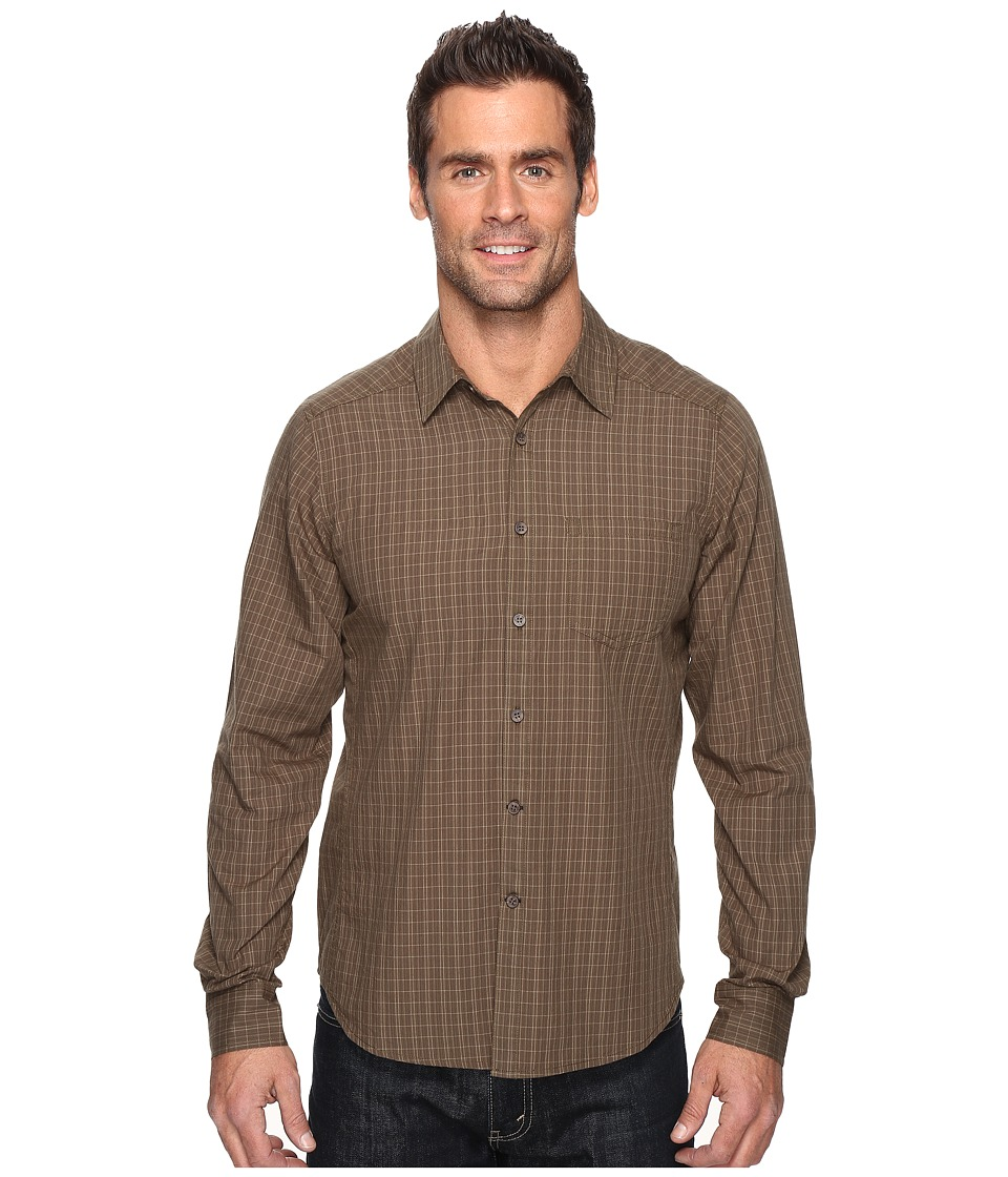 NAU - Parallelogram Long Sleeve Shirt (Mushroom Plaid) Men's Long Sleeve Button Up