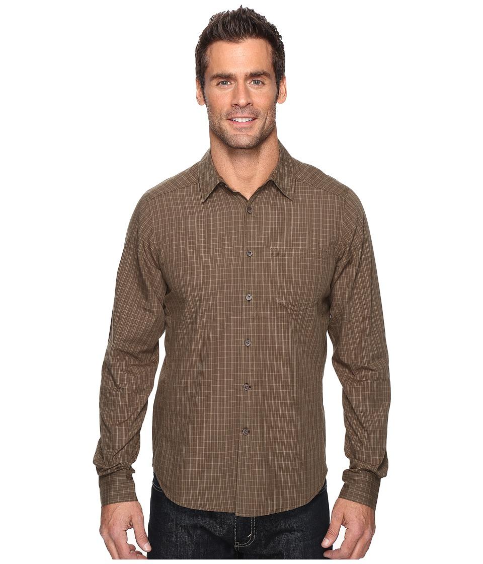 NAU - Parallelogram Long Sleeve Shirt (Mushroom Plaid) Men's Long Sleeve Button Up
