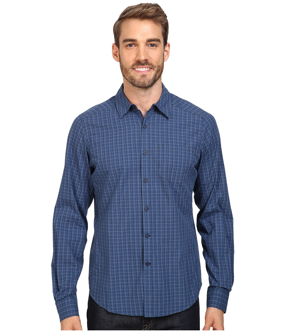 NAU - Parallelogram Long Sleeve Shirt (Tide Plaid) Men's Long Sleeve Button Up