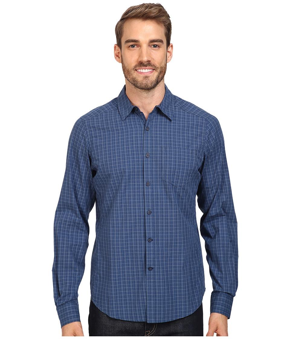 NAU - Parallelogram Long Sleeve Shirt (Tide Plaid) Men's Long Sleeve Button Up