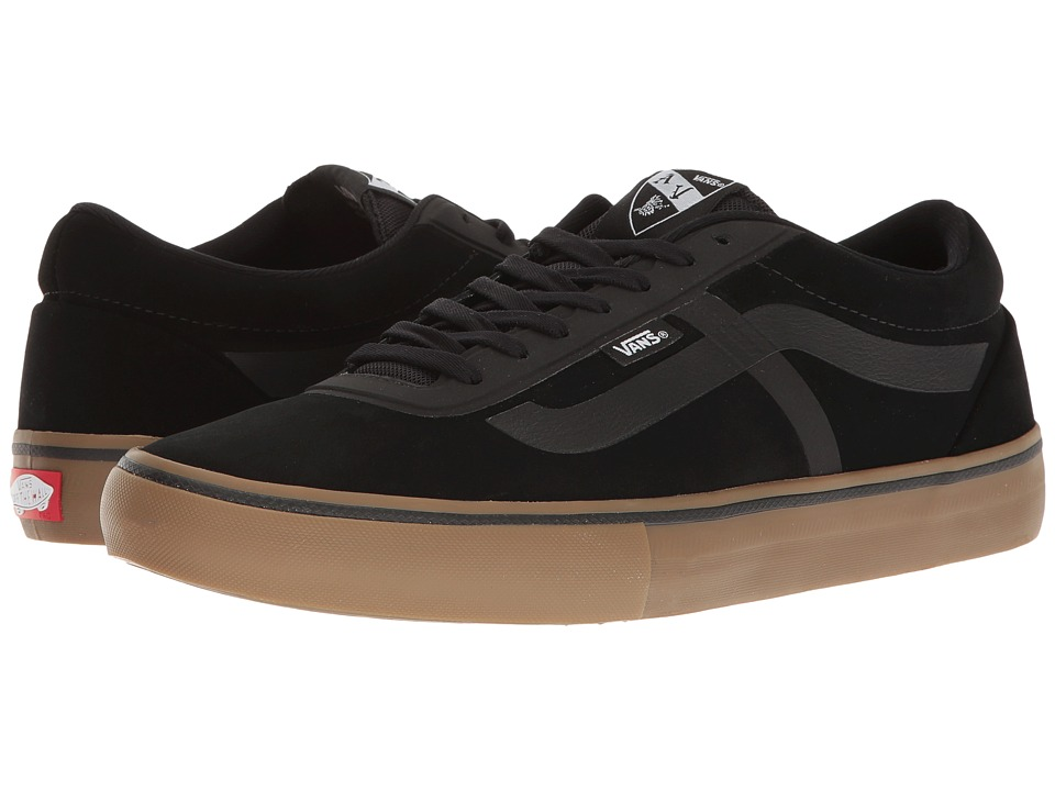 Vans - AV Rapidweld Pro (Black/Gum) Men's Skate Shoes
