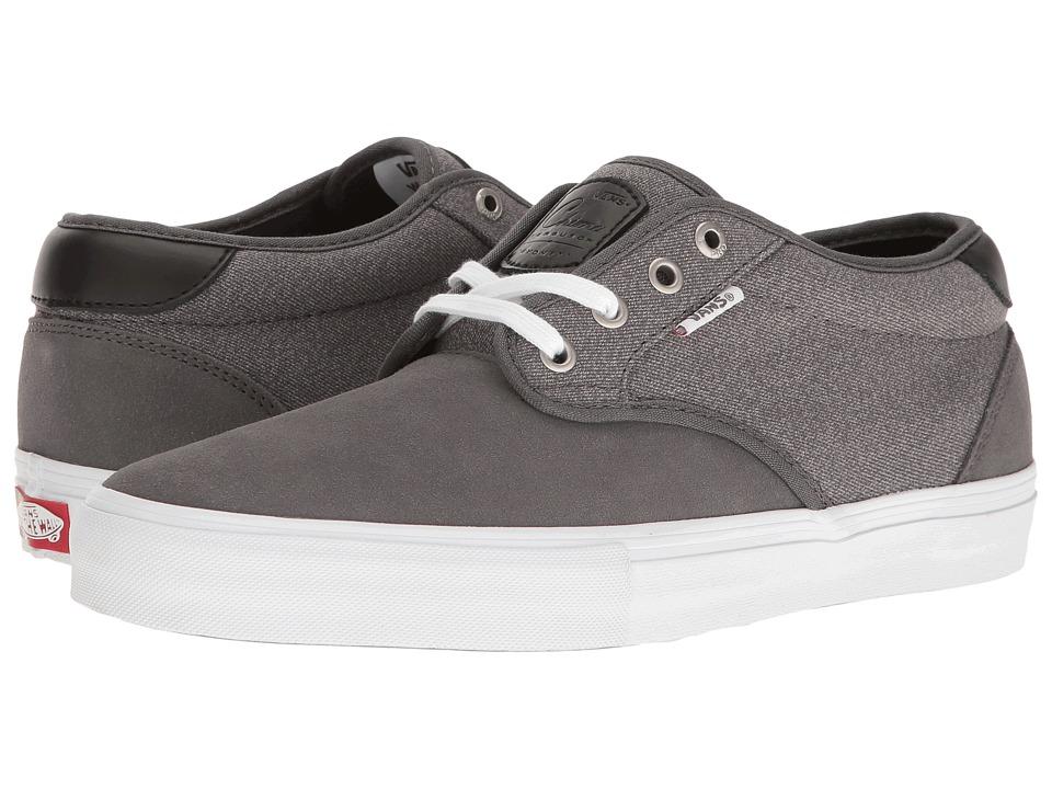 Vans - Chima Estate Pro ((Suede) Pewter/White) Men's Skate Shoes