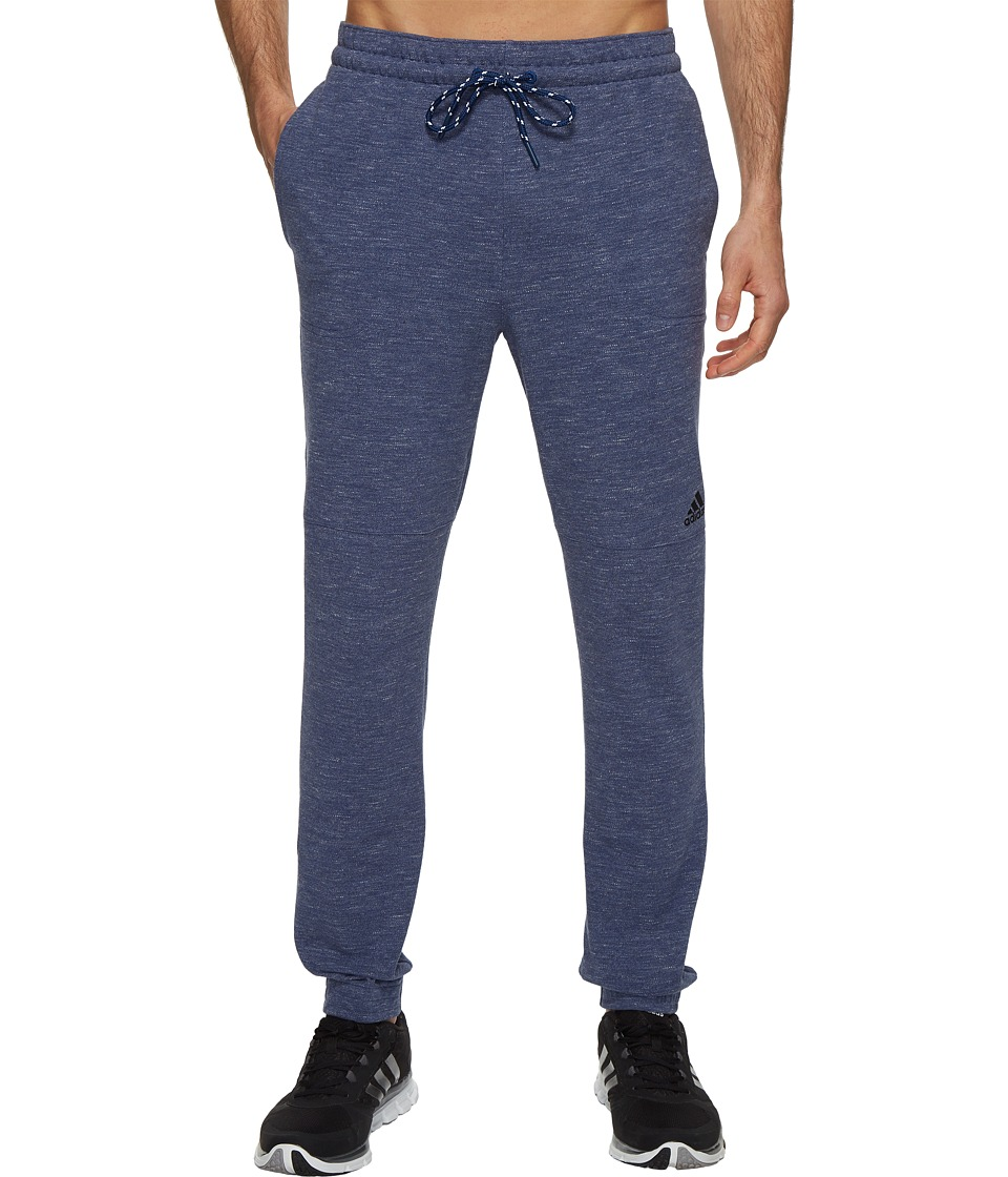 adidas - Essentials Heathered Piqu Pants (Mystery Blue/Colored Heather) Men's Workout