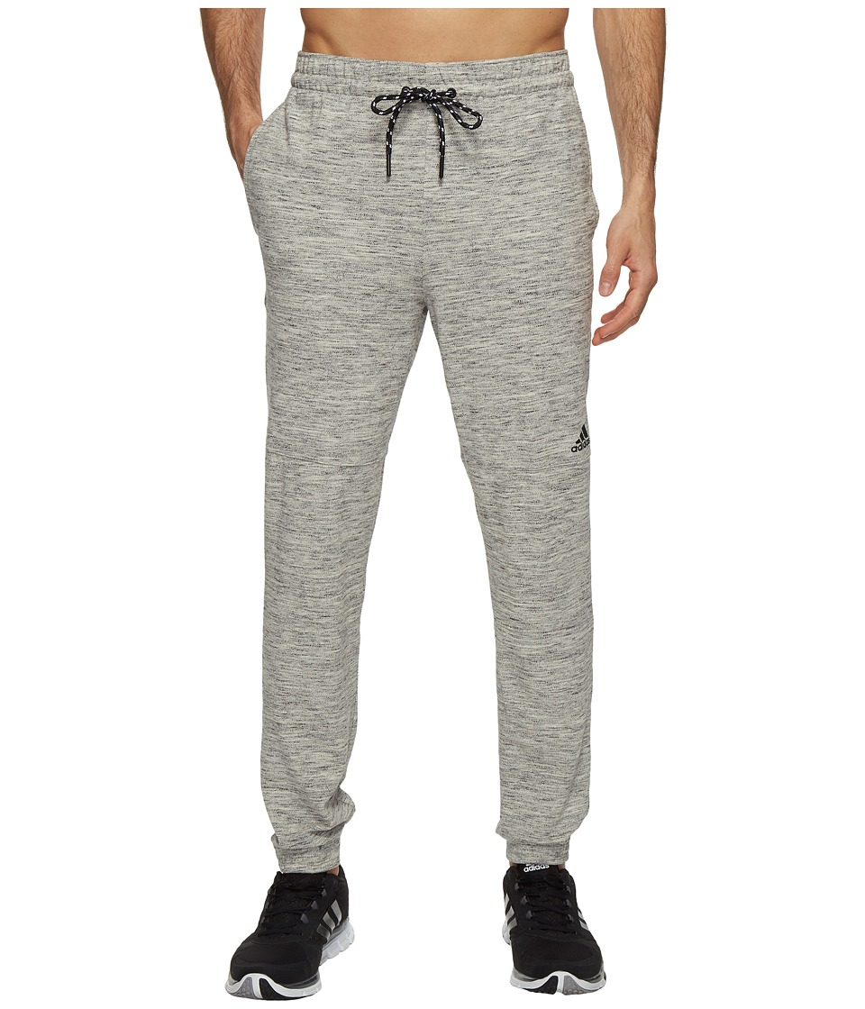 adidas - Essentials Heathered Piqu Pants (Medium Grey Heather) Men's Workout