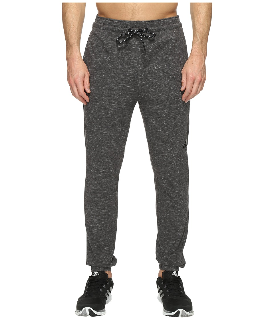 adidas - Essentials Heathered Piqu Pants (Dark Grey Heather) Men's Workout