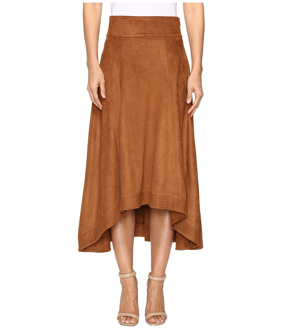 Jag Jeans - Meredith Skirt in Machine Washable Faux Suede (Saddle Brown) Women's Skirt