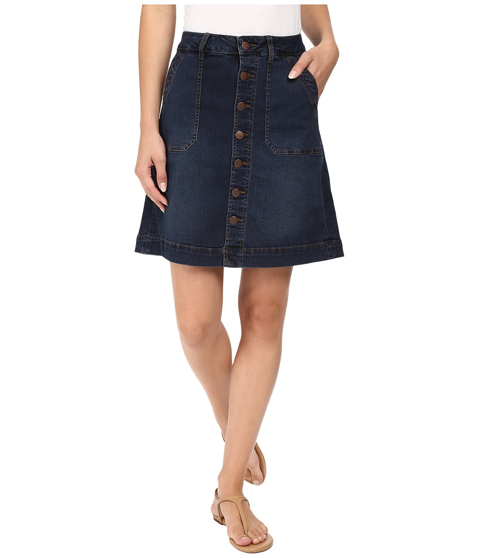 Jag Jeans Florence Skirt Republic Denim in Indigo Steel (Indigo Steel) Women