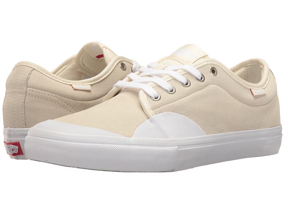 Vans - Chukka Low Pro ((Rubber) White/White) Men's Skate Shoes