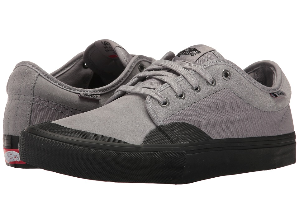 Vans - Chukka Low Pro ((Rubber) Grey/Black) Men's Skate Shoes
