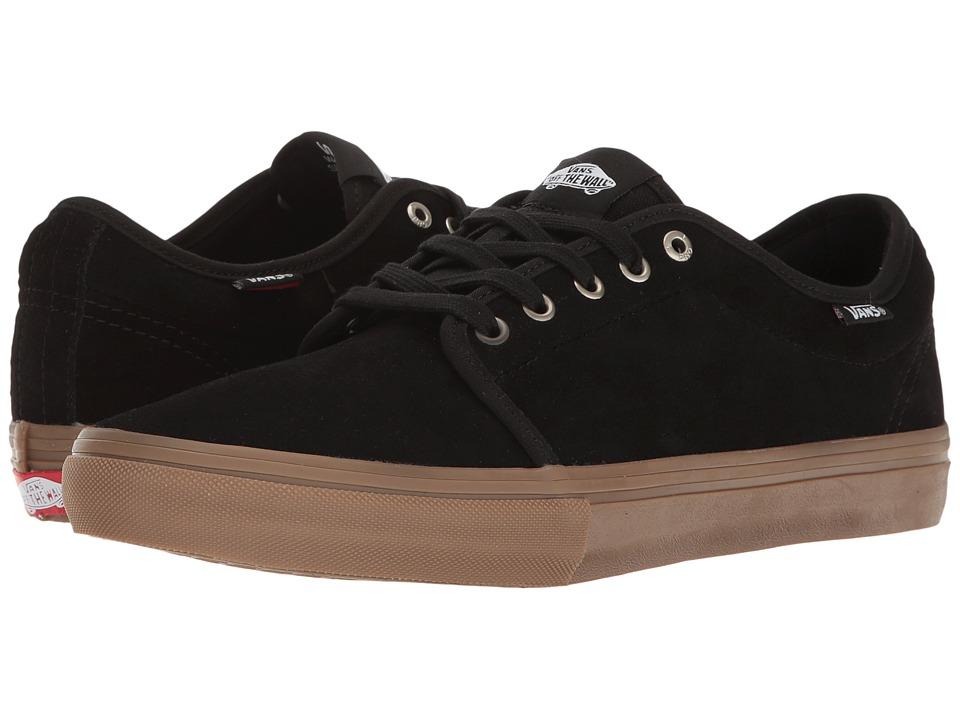 Vans - Chukka Low Pro (Black/Gum) Men's Skate Shoes