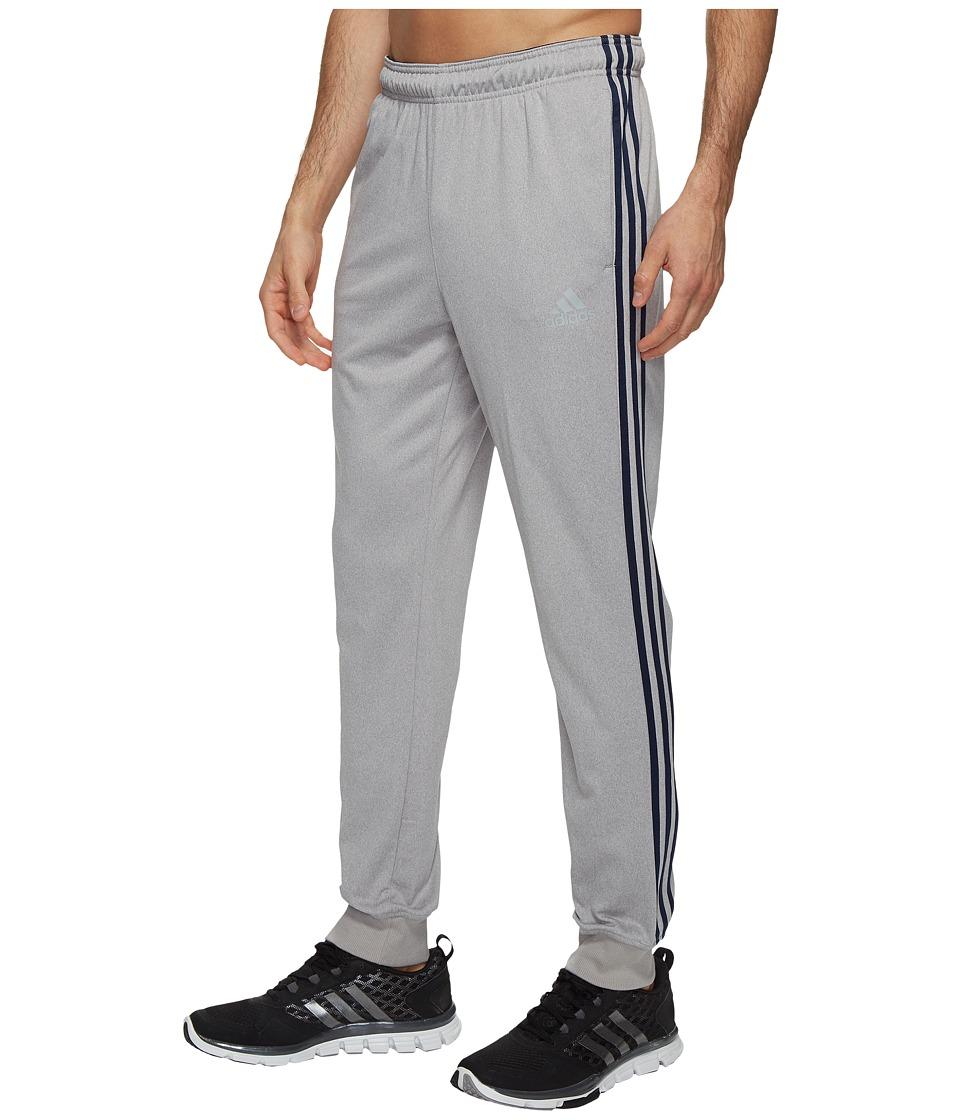 adidas - Essentials Tricot Jogger Track Pants (Medium Grey Heather/Collegiate Navy) Men's Workout