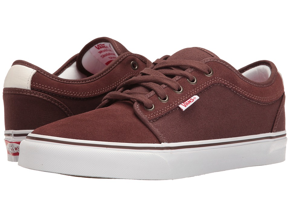 Vans - Chukka Low (French Roast/White/Red) Men's Skate Shoes