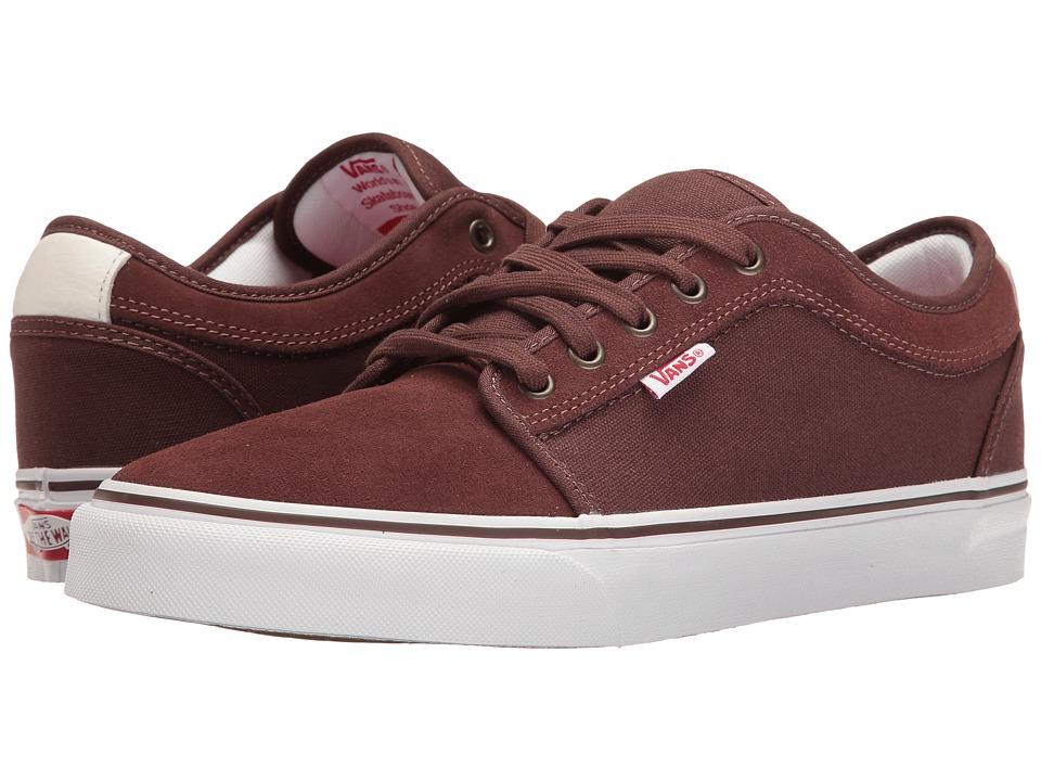 Vans - Chukka Low (French Roast/White/Red) Men's Skate Shoes