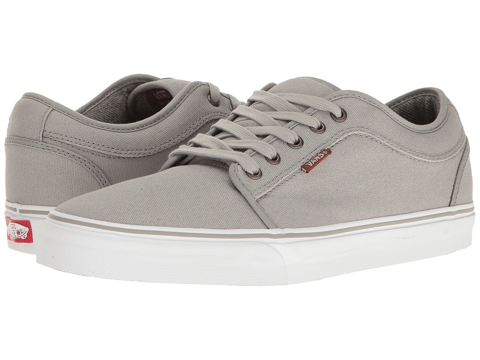 Vans - Chukka Low ((10 Oz. Canvas) Grey/White) Men's Skate Shoes